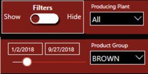 Power BI panel filter